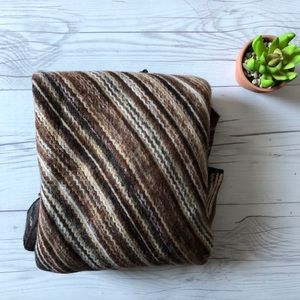 Sweaters - Brown Stripe Poncho